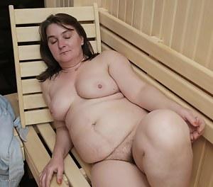 Hot MILF Sauna Porn Pictures
